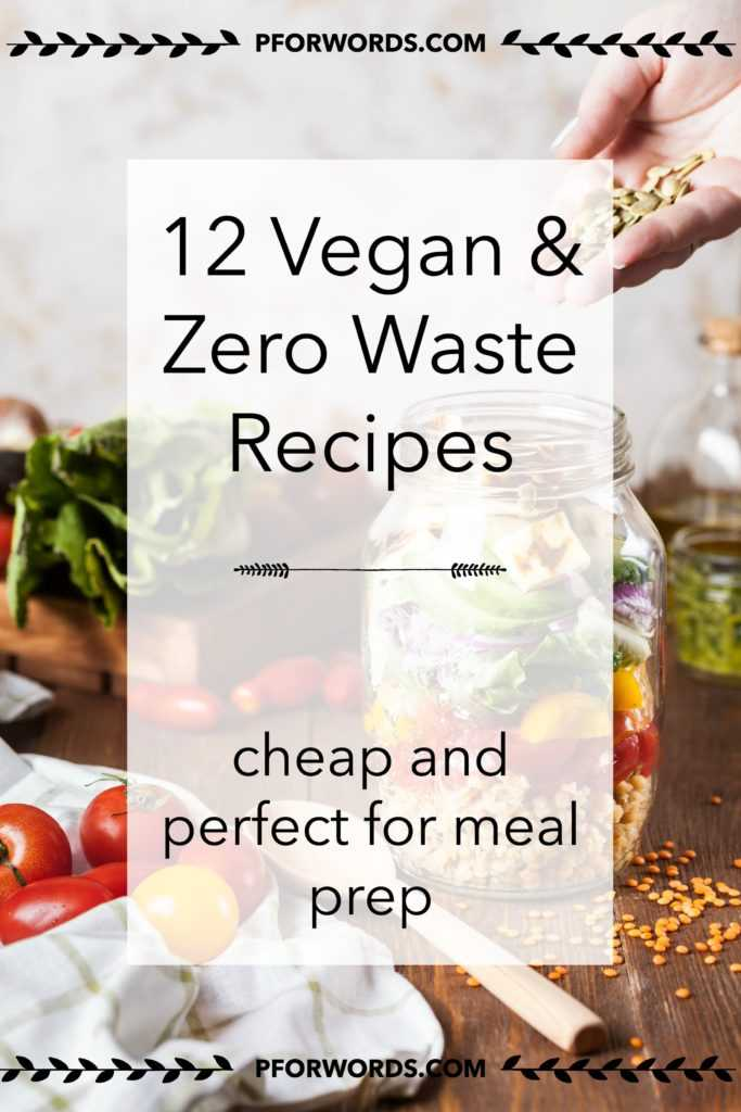 Need some meal inspiration? Check out my tried and true 12 vegan recipes that hold up well for the entire week! You can buy all of the ingredients zero waste, and as a plus, they are super cheap!