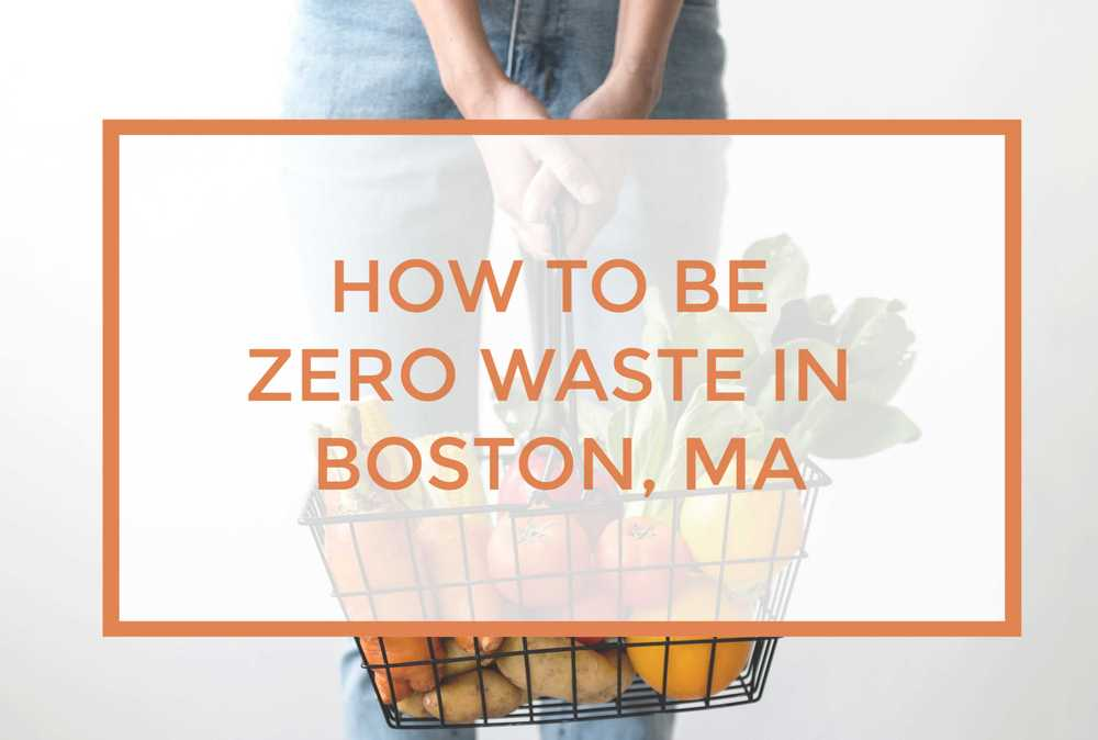 How to be Zero Waste in Boston, MA