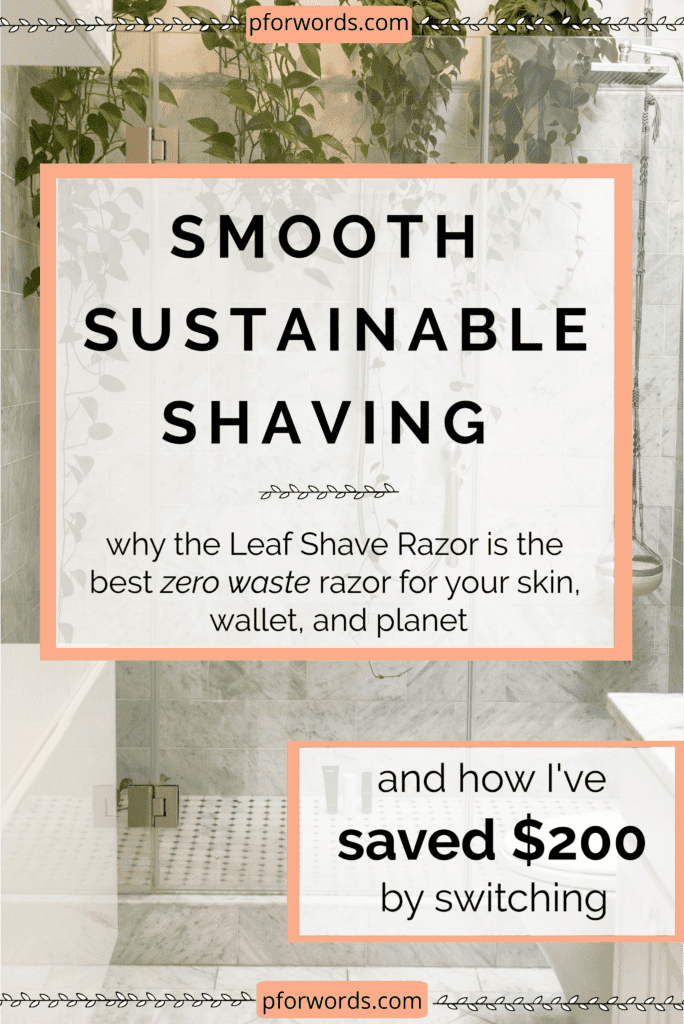 Save the planet and your skin and see how much money you can save by switching to these 3-blade, pivoting head, stainless steel razor!