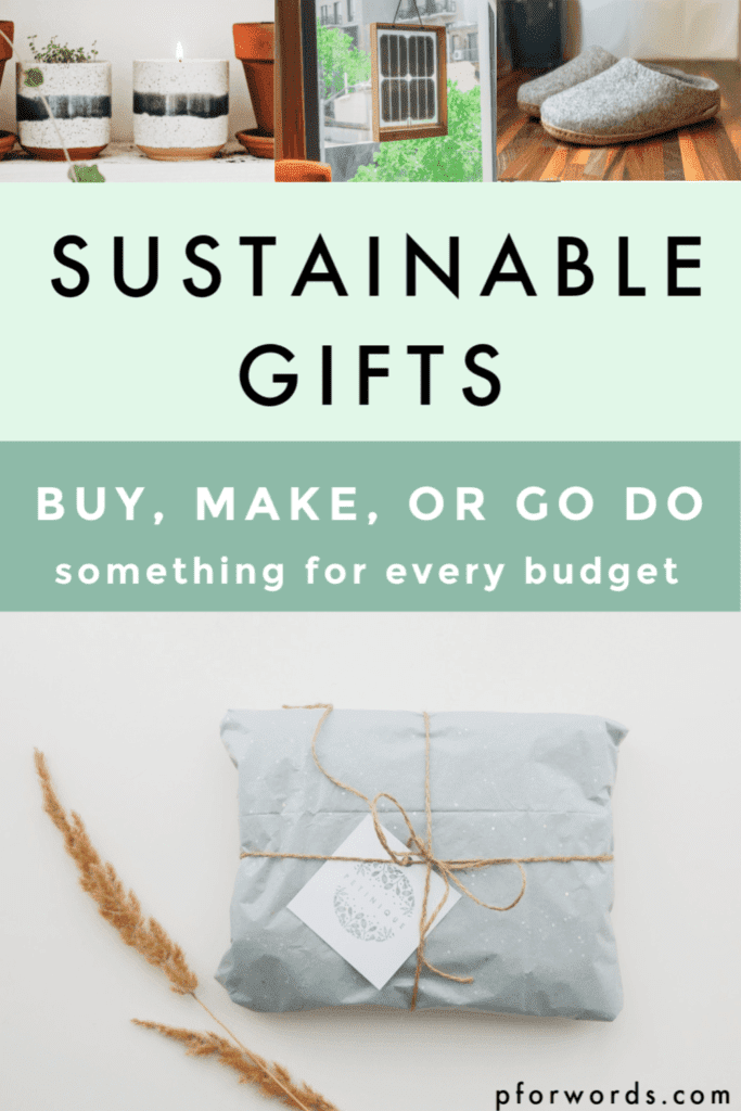 Zero Waste, sustainable gifts for every budget.