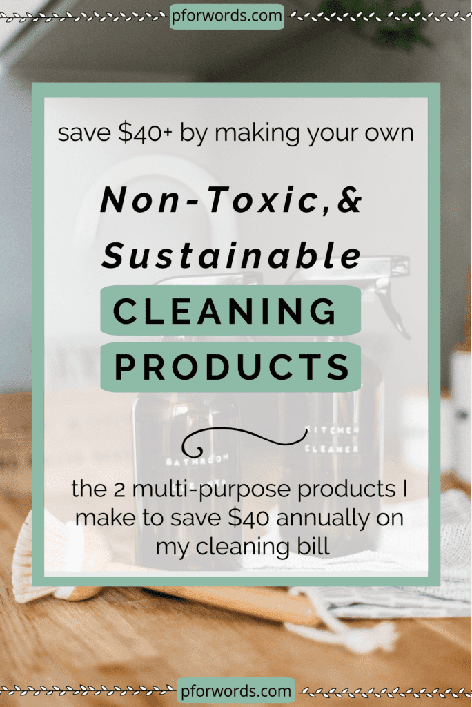 Did you know that most conventional household cleaners contain toxic chemicals for you and the environment?! If that freaks you out, check out my two easy DIY zero waste cleaning swaps you can implement to ensure you aren't exposed to harmful toxins. Bonus, you'll also save money!
