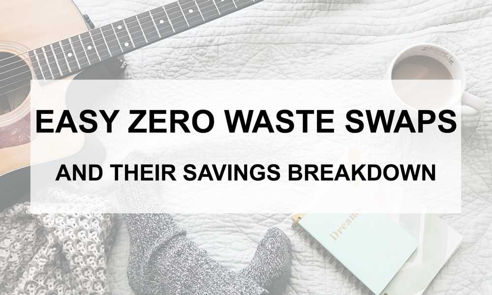 Want to lessen your trash output? Consider these easy waste swaps to not only save the planet, but you'll also save money! Come on over to find out more.